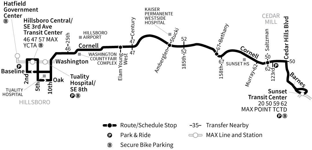 Bus Line 48 route map