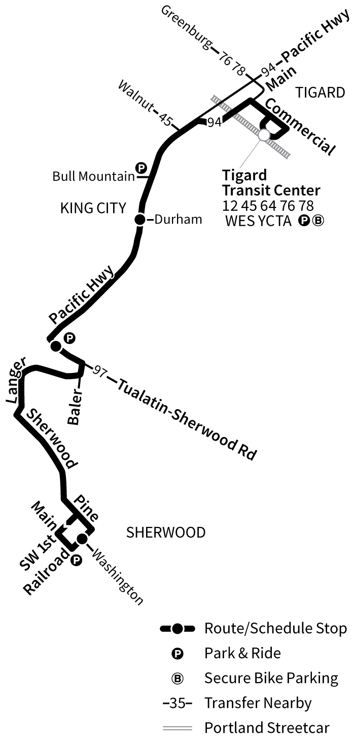 Bus Line 93 route map
